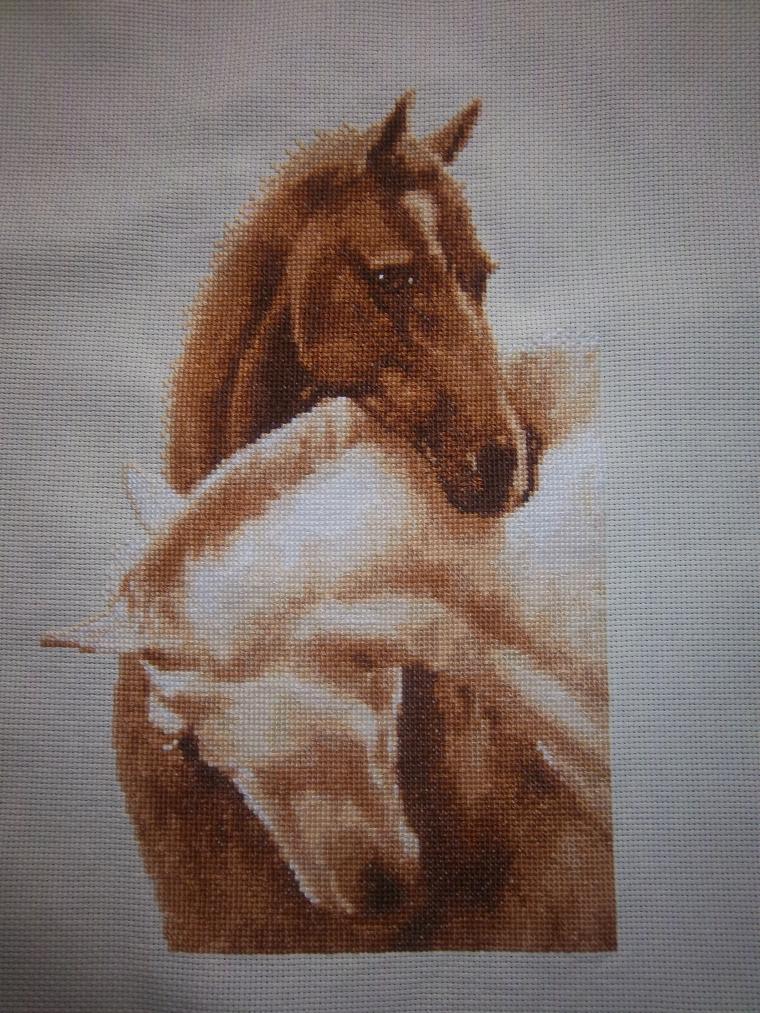 лошадка, вышивка