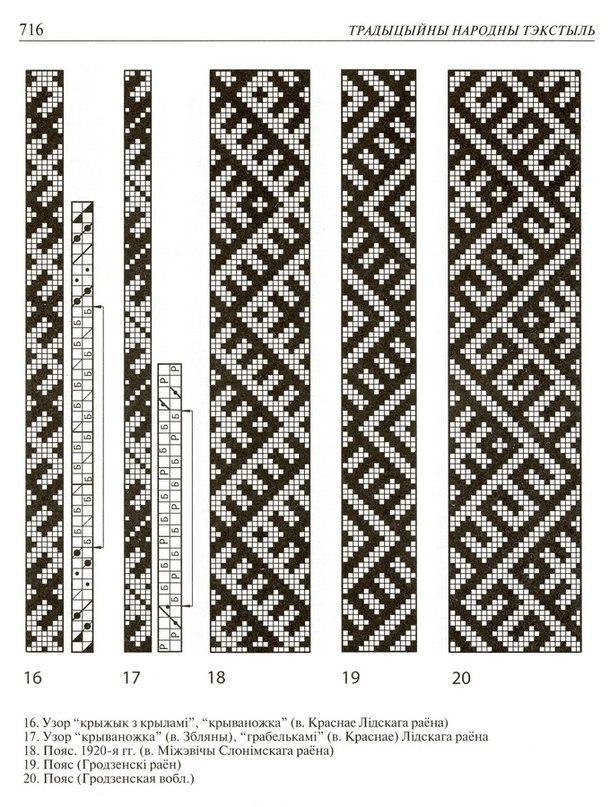 Схема как ткать пояса