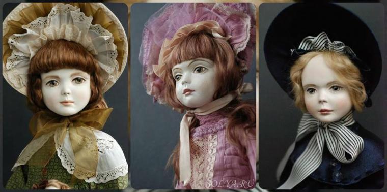 авторская кукла, роспись, прекрасные куклы
