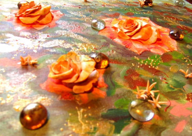 картина с цветами, морской пейзаж