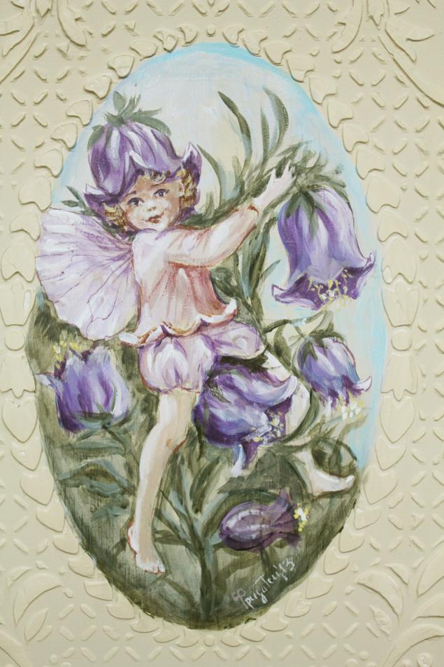 авторская роспись, сказка, цветы