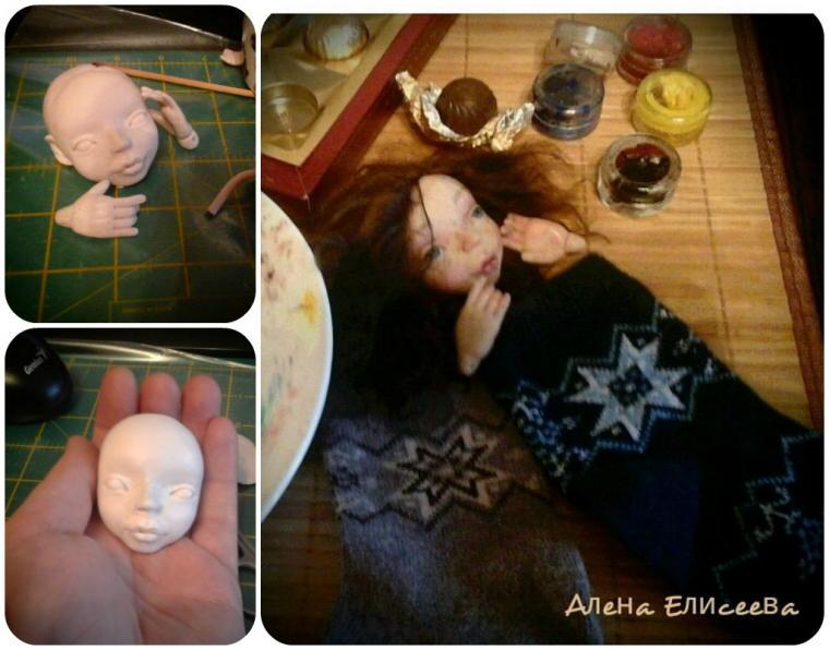 в процессе, рождение куклы, фигуристка