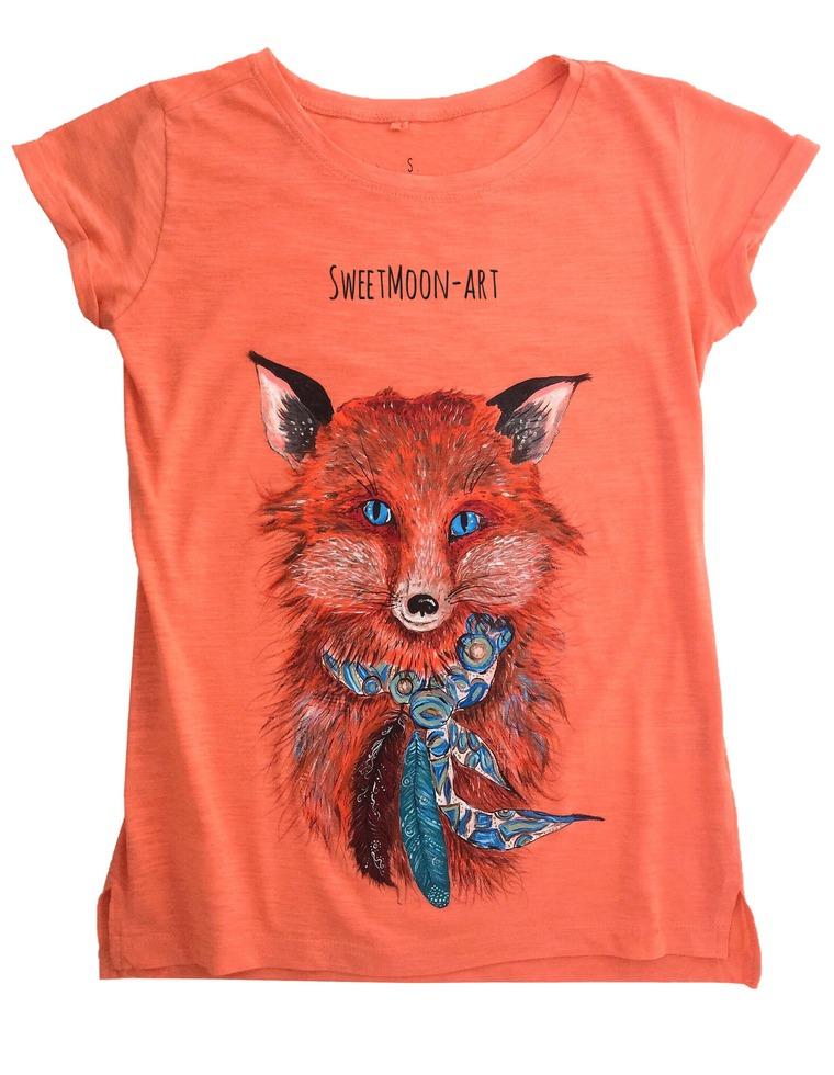 аукцион одного дня, футболка женская, салатовый, лисички, лето 2016