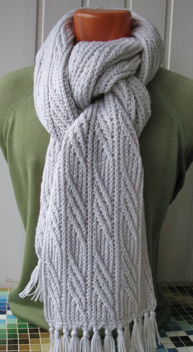 шарф в подарок, зима