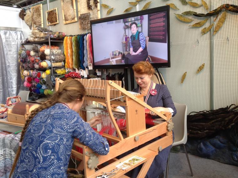 ukrasa, школа живописного войлока, шерсть, ткацкий станок
