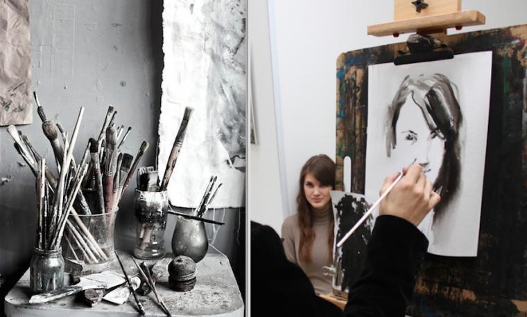 портрет, художник, рисвоание, искусство