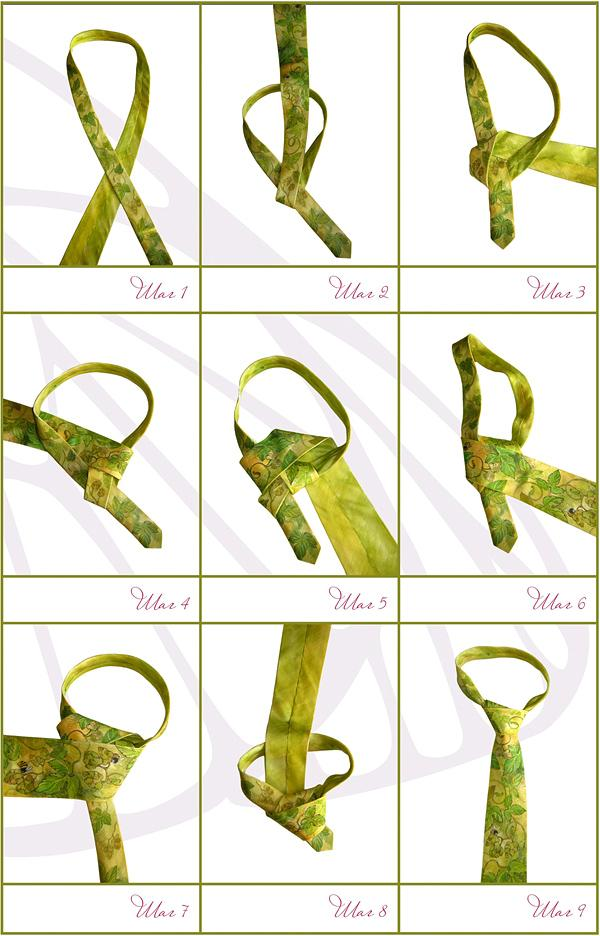 Как завязывать галстук скинни