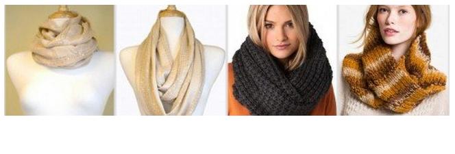 снуд на весну, круговой шарф