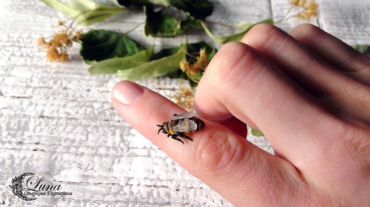 полимерная глина, лепка пчелы, цернит, мастер-класс по лепке, видео-урок