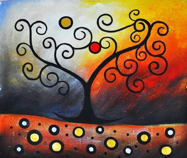 мастер-класс, абстракция, масло, масляная живопись