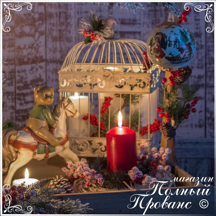новогодний венок, новогодняя витрина
