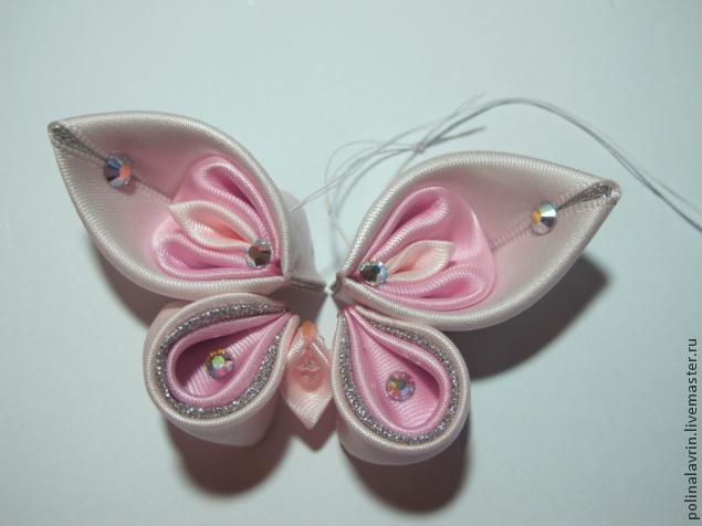 Как сделать бабочку из лент
