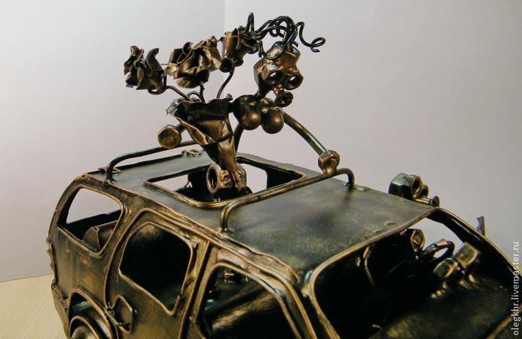 Делаем объемную модель «Шевроле Тахо» с влюбленной парой, фото № 37
