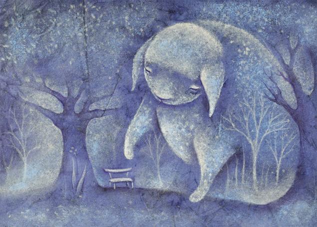 все ушли, сказочка на ночь, новая работа, картина пастелью, картина для детской, сказочная картина, детская сказка, трогательный пёсик
