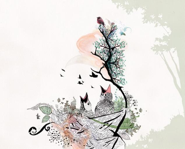рисунки на тему птицы: