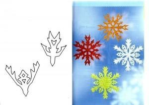 нарисовать снежинки