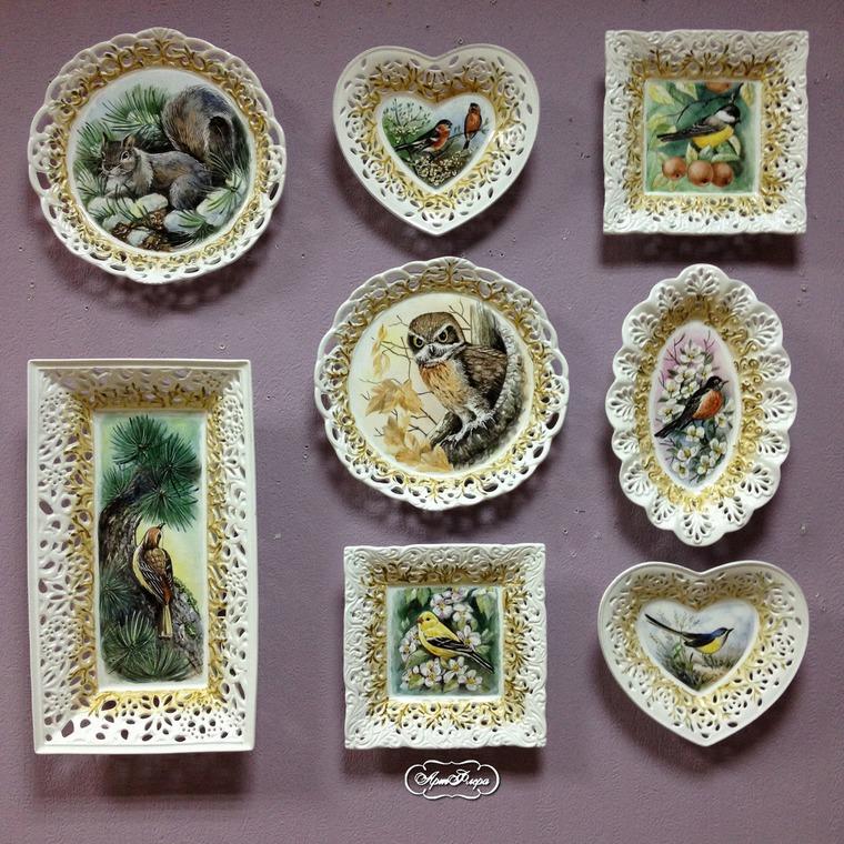 Декорирование стен тарелками, фото № 22