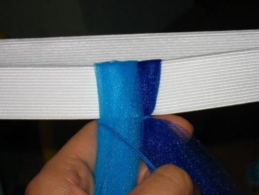 Юбки пачки с помощью нитки резинки
