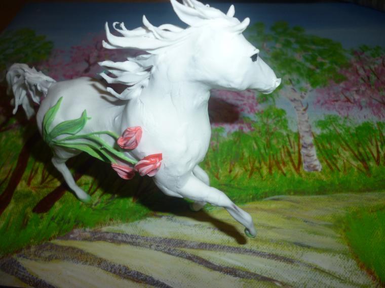 розыгрыш подарка, картина для интерьера, белый цвет, лошадки, подарок женщине