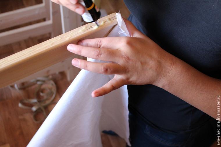 при небольшом как натянуть ткань на подрамник снижает теплопотерю