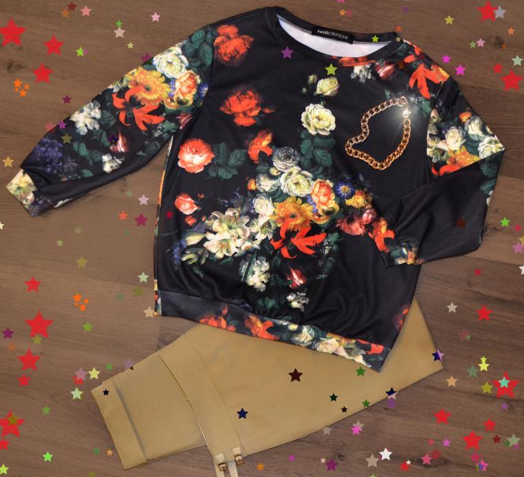 свитшот, джемпер, свитер, пошив на заказ, дизайнерская одежда, pavocreations, новый год 2015, брюки, платье, дизайнерские украшения, скидка, распродажа, модная одежда