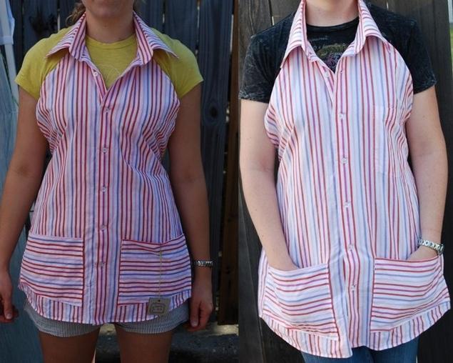 Шьем фартук из мужской рубашки - МирТесен 21