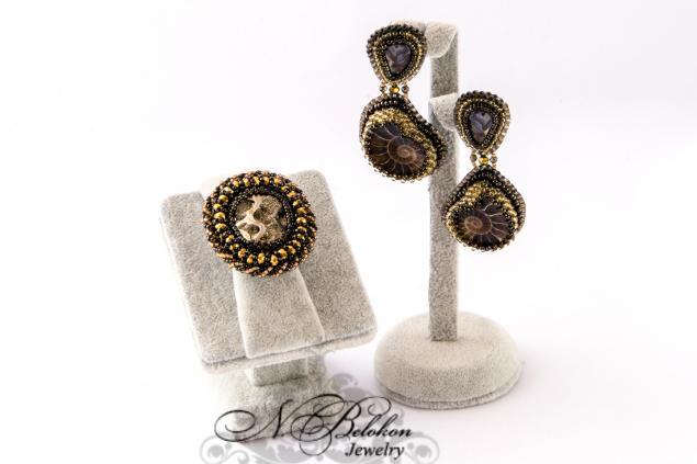 вышивка бисером, основа для кольца