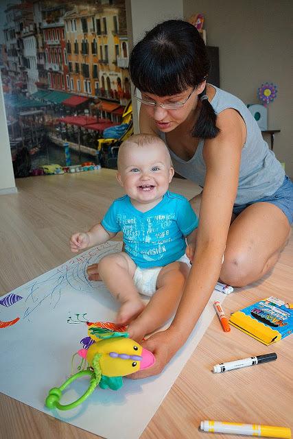 Как рисовать с малышом полутора лет, фото № 6