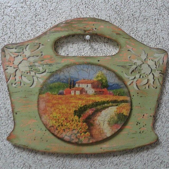 Вешалка с медальоном «Под Солнцем Тосканы». Декупаж., фото № 3