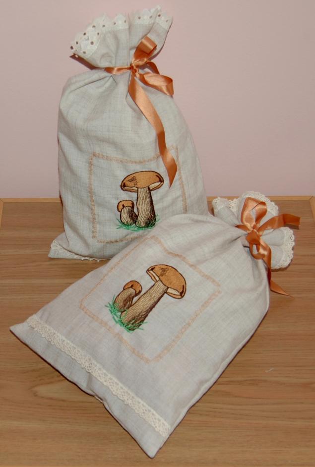 Мешочек для хлеба из льна