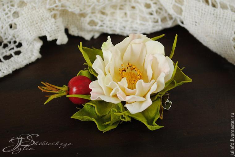 цветы из фоамирана, шиповник из фоамирана