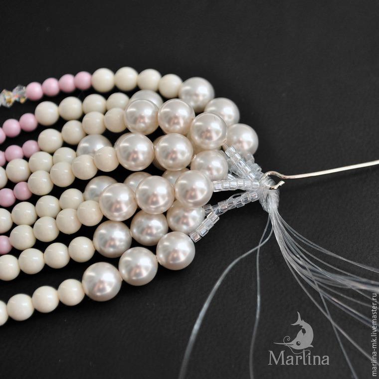 Jellyfish Pendant DIY with Pearls and Swarovski Crystals, фото № 34