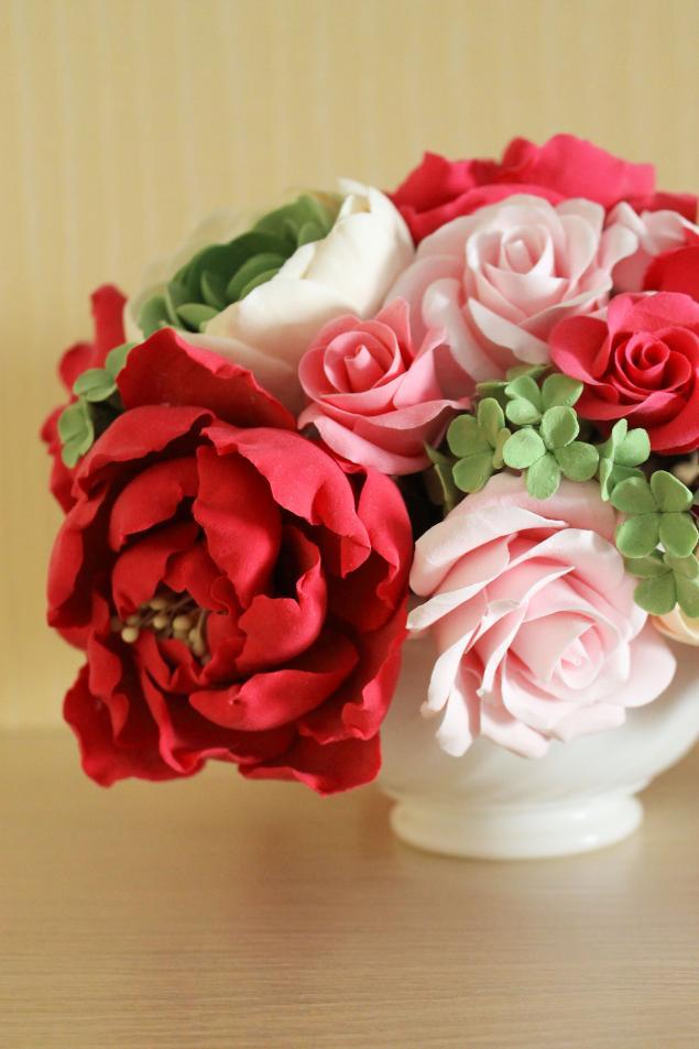 цветы из полиметной глины