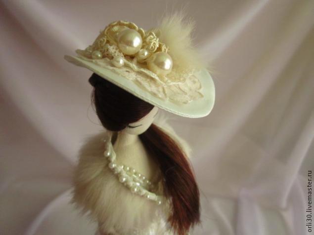 Шляпки для кукол мастер класс подробно #2