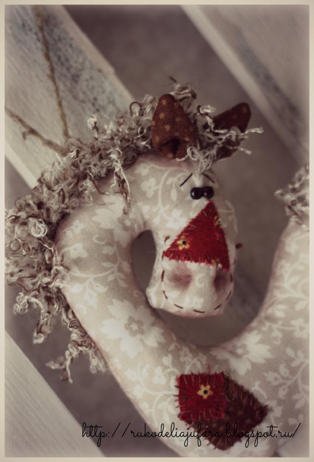 лошадка, новый год, белый, подарок, интерьерная игрушка