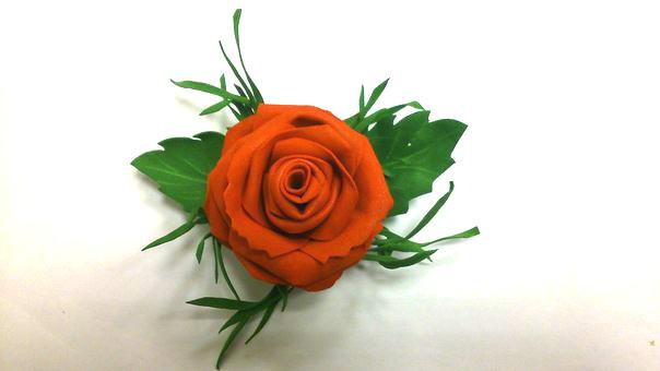 мастер-класс по цветам, роза