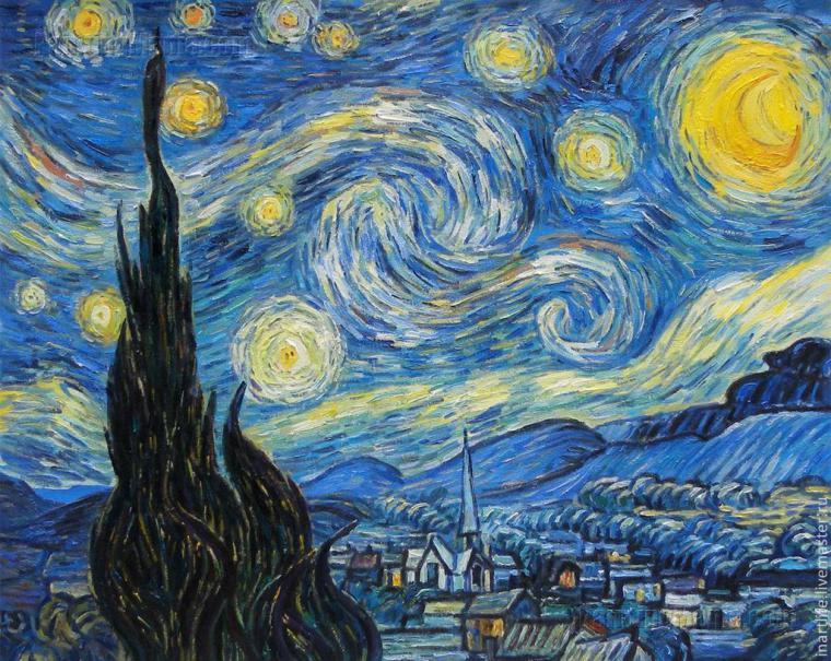 Темная ночь картина