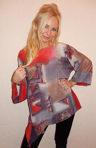 батик, нарядное платье, акция, аукцион сегодня, красный, подарок, вечер, шелковая