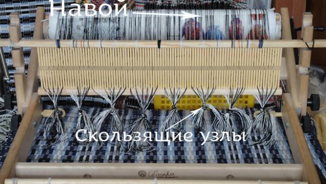 ткачество, настольный ткацкий станок, проборка основы, мастер-класс