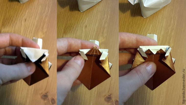 Оригами: пасхальная курочка, фото № 19