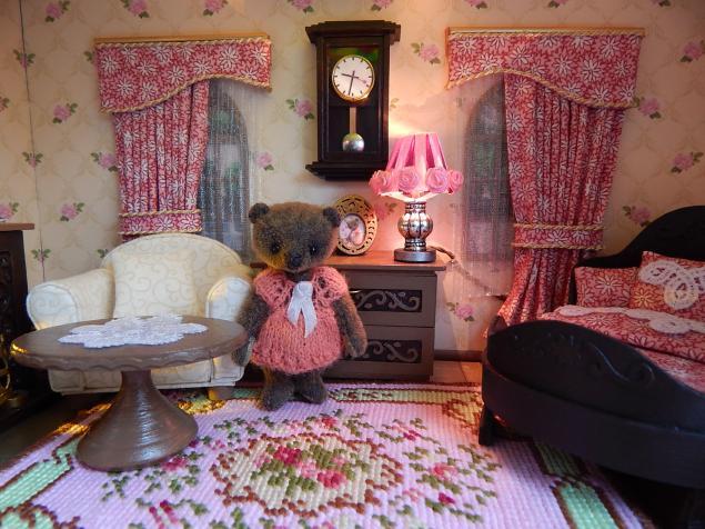 румбокс, комната, мишка, спальня, кукольная миниатюра