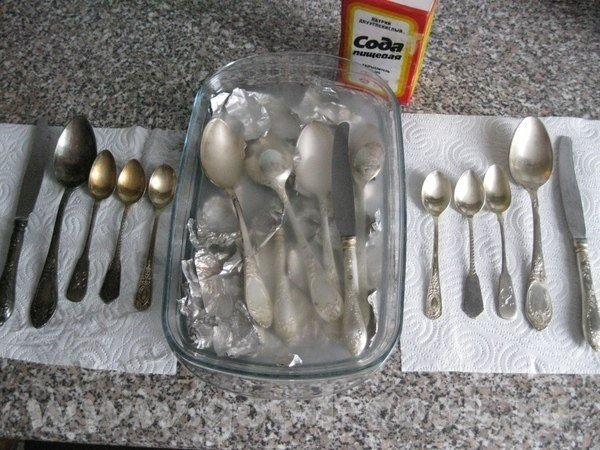 чистка серебра, хранение серебра, уход за серебром