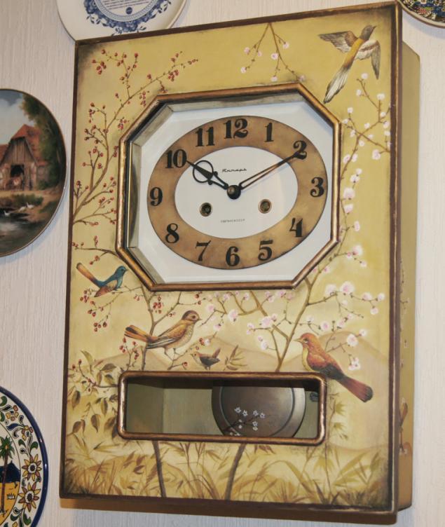Декоративные часы своим руками фото
