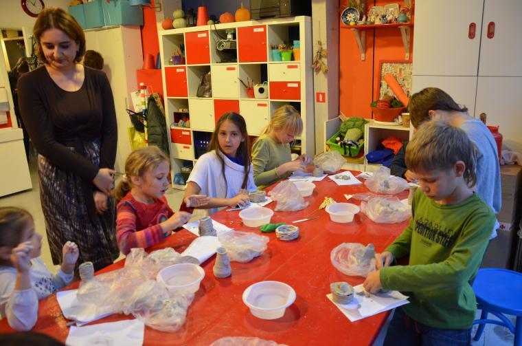 мастер-класс по лепке, керамика