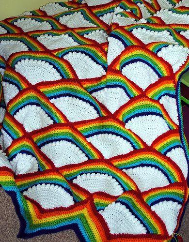 Crocheted Fan Afghan By American Thread Company - Free Crochet Pattern - (ravelry)