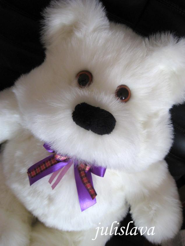 аукцион сегодня, белый мишка, игрушка медведь