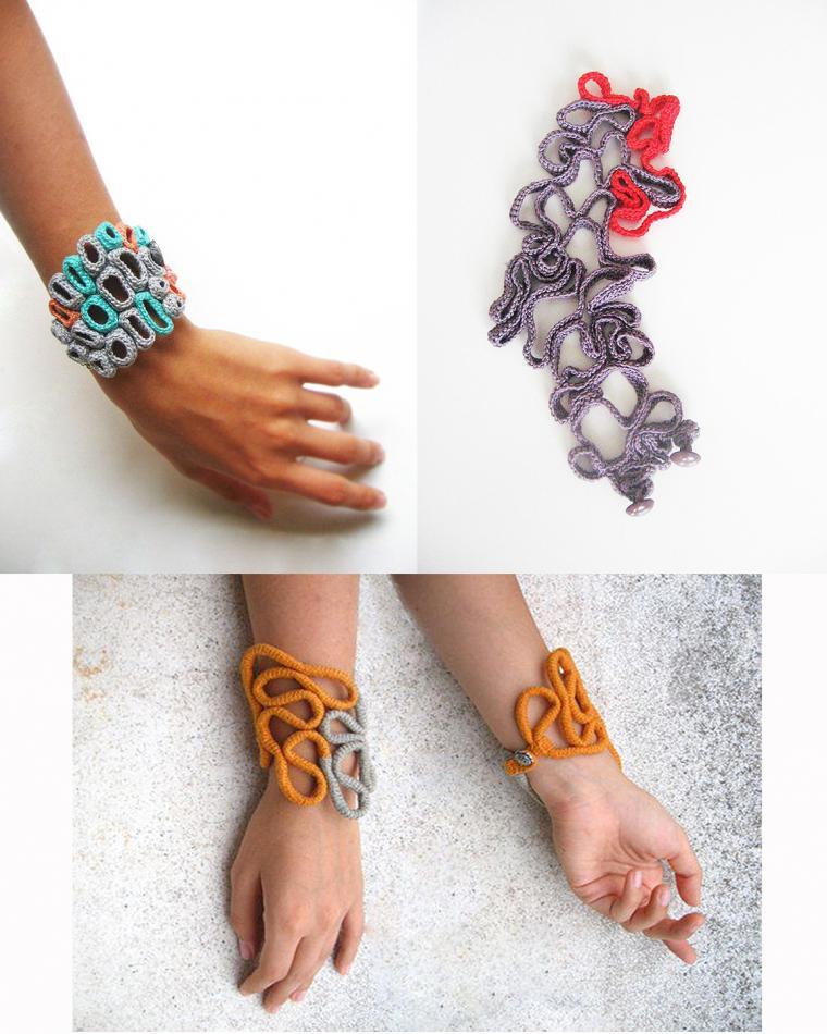 Красивые вязаные браслеты
