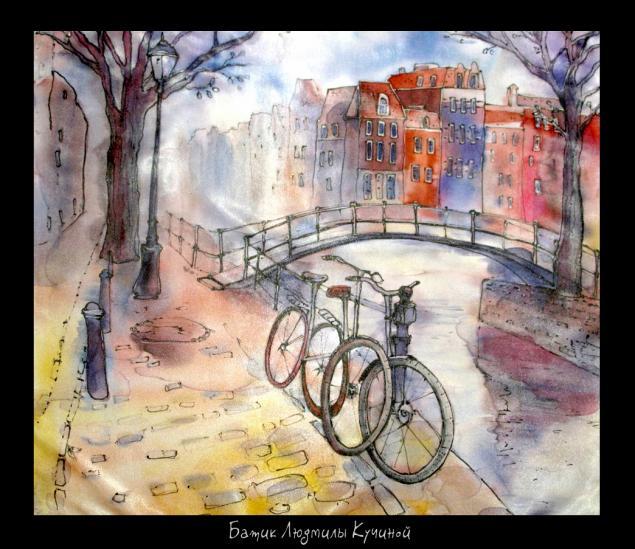 велосипед, батик, велосипеды