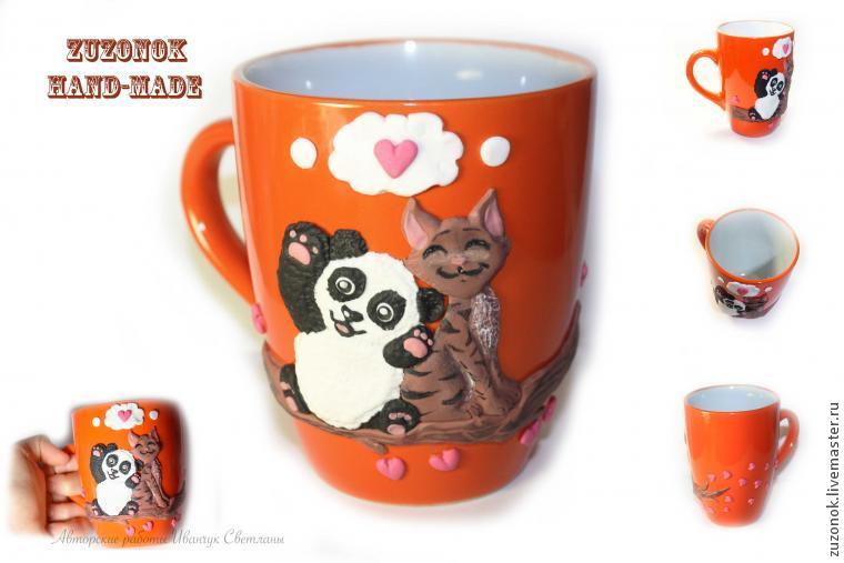 подарок в годовщину, любовь, чашка панда