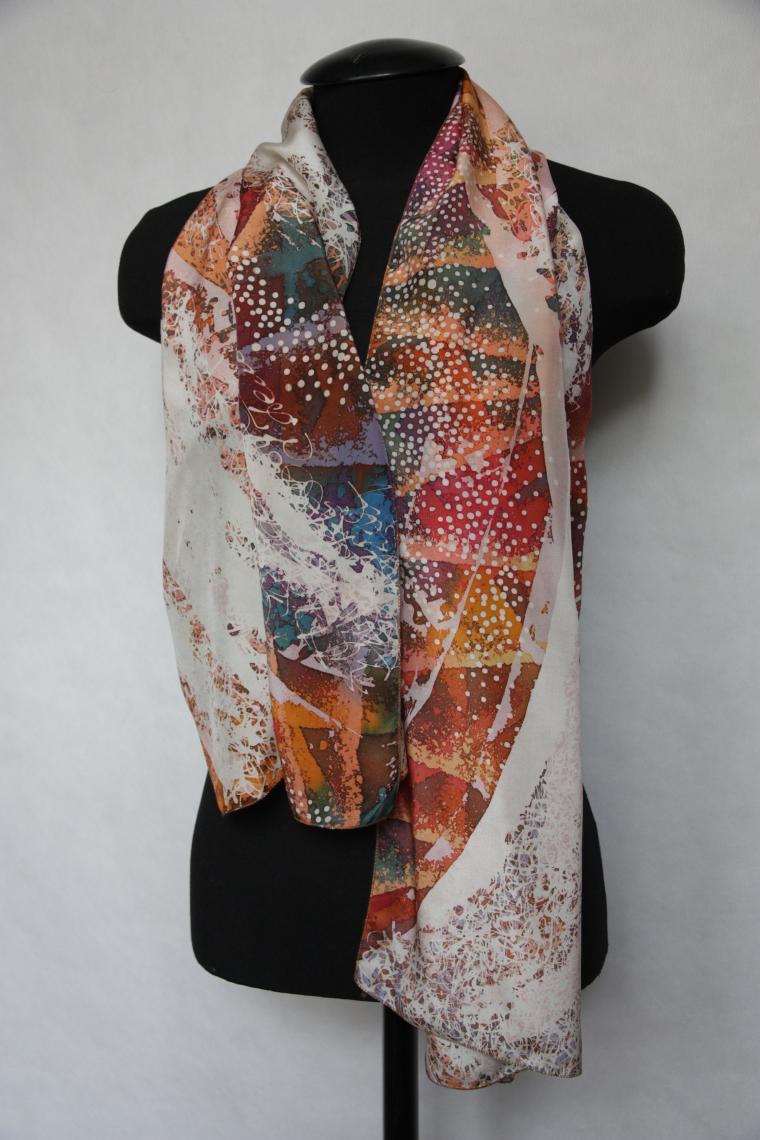 шарф, авторская работа, мастер-класс